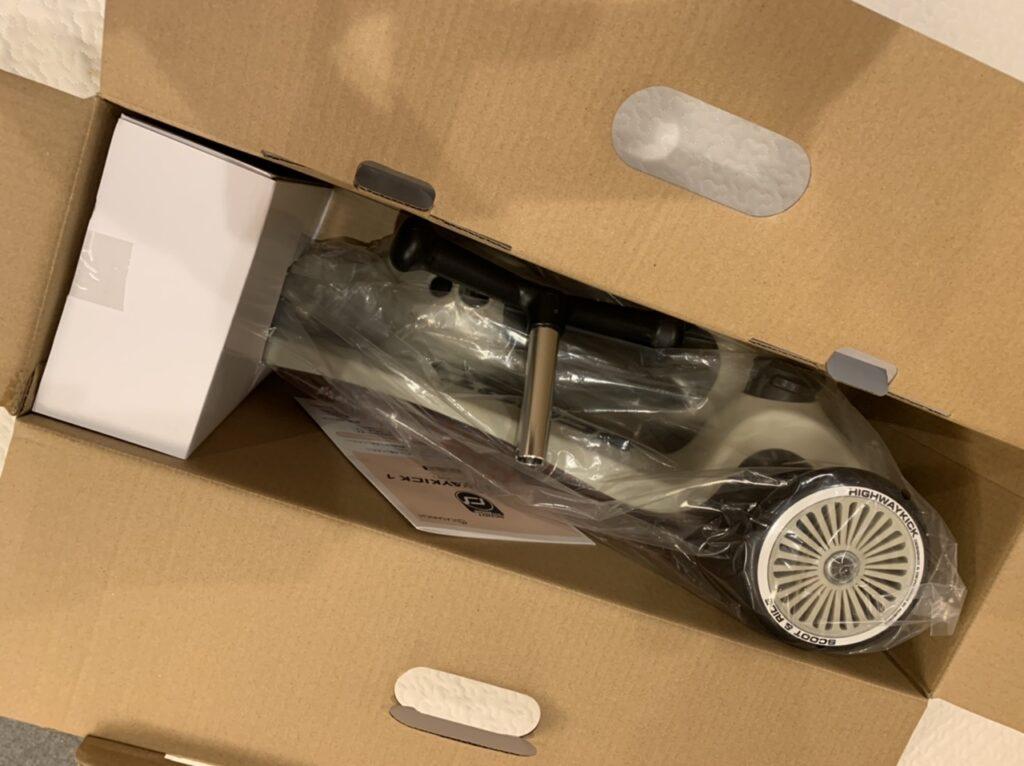 スクートアンドライドの箱の中の様子