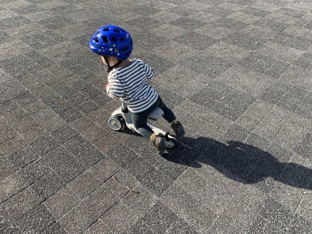 子どもがスクートアンドライドに実際に遊んでいる様子